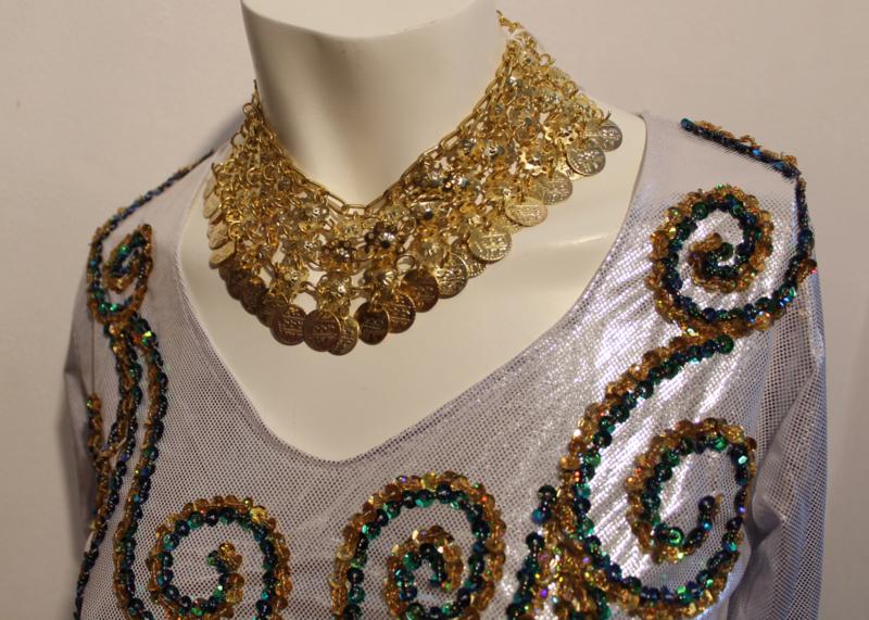 Muntenhalssnoer GOUD kleurig - H1 - Coins necklace GOLD color