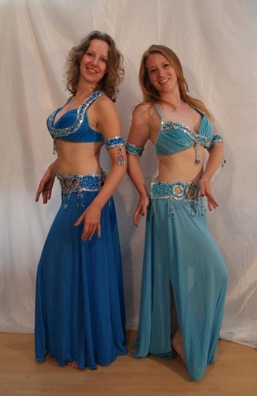 Slangenkostuum Egypte licht-turquoise/turkoois zilver - Snake costume TURQUOISE SILVER