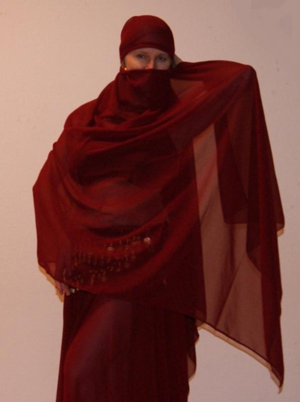 Sluier rechthoekig chiffon BORDEAUX DONKER ROOD - veil rectangle chiffon WINERED / DARK RED / BURGUNDY