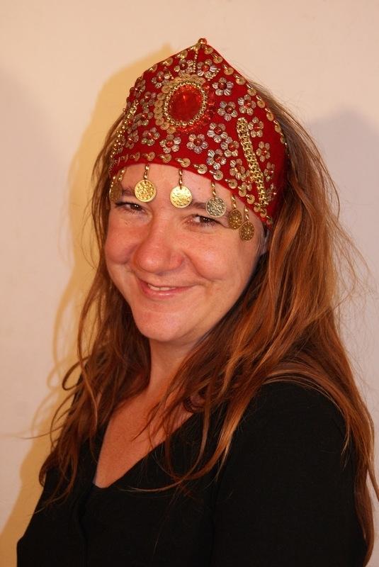 Prinsessen kroon / hoofd sieraad ROOD GOUD - meisje of vrouw / girl or lady - Princess crown / head jewel  RED GOLD