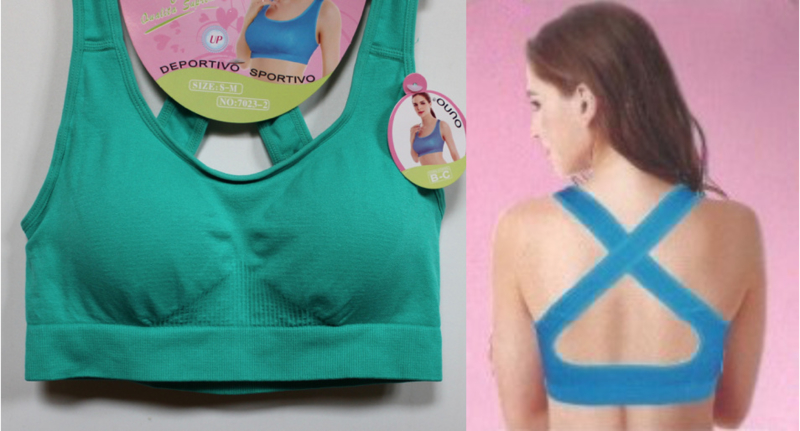 Fitness stretch topje met uitneembare vulling ZEE GROEN, FUCHSIA met gekruiste bandjes op de rug  - Sleeveless stretch top  FUCHSIA / BRIGHT PINK, AQUA GREEN, crossed straps on the back