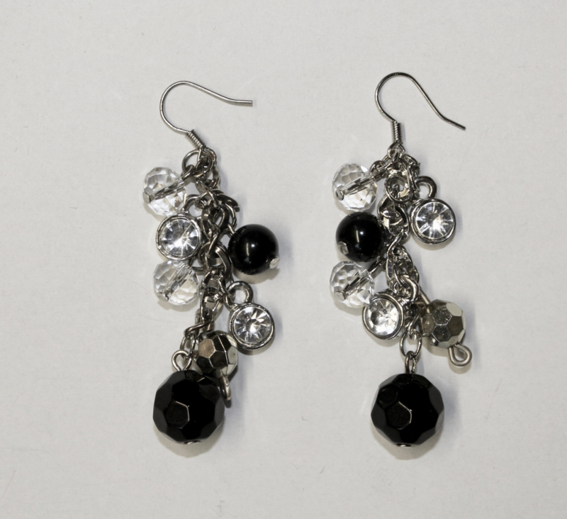 Oorbellen Diamond BLACK SILVER - Earrings Diamond BLACK SILVER