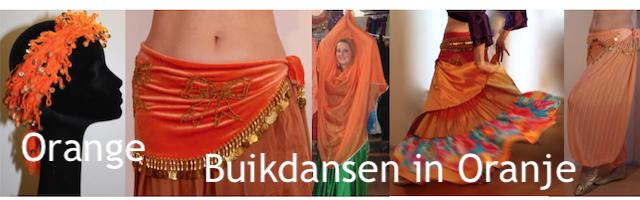 Buikdansen in Oranje koninginnen bellydance