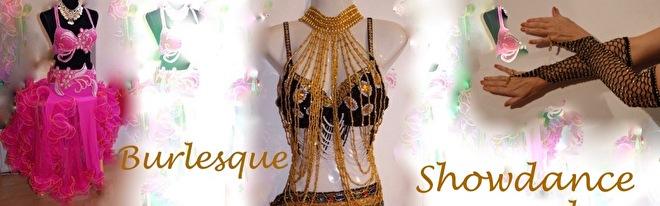 Burlesque kostuum showdance costumes gogo dance