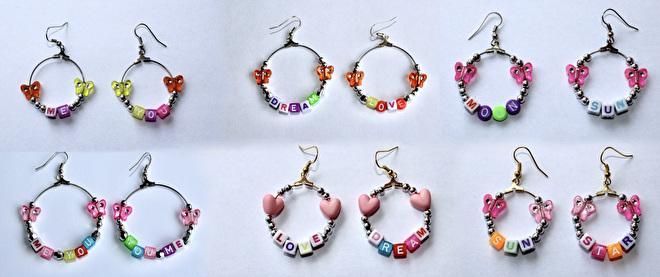 oorbellen met een boodschap love dream me you earrings