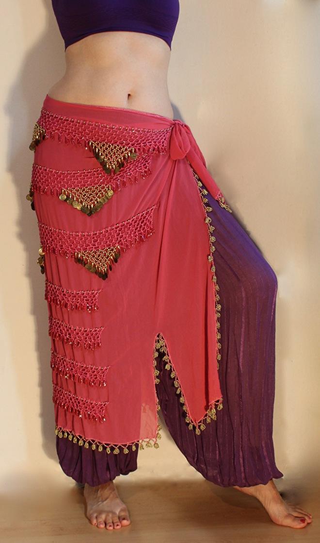 sarong glitter sjaal bellydance buikdans gordel hipbelt