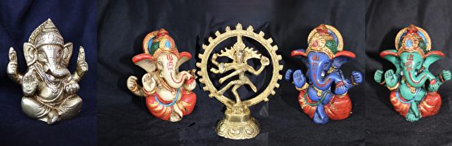 Boho Hindoe beeldjes Ganesha Shiva Nataraj Buikdanswinkel