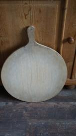 Grote houten broodplank (rond met steel)