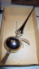 KM044 Zilveren piek met 1 bol (glas)