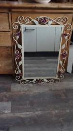 Smeedijzeren spiegel (81 x 61 cm)