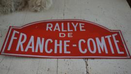 Emaille bord RALLY de FRANCHE-COMTE