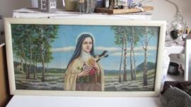 R013 Groot schilderij met heilige voorstelling