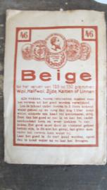 B371 Oud zakje textielverf met Nederlandse en Franse tekst