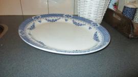 S249 Mooie serveerschaal, blauw decor