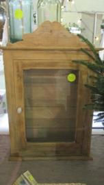 Grenen hang/vitrine kastje