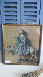 R008 Schilderijtje Maria met kind op ezel
