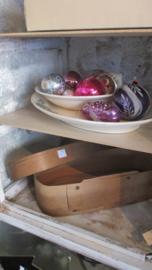 B584 Oude ovale spanen doos
