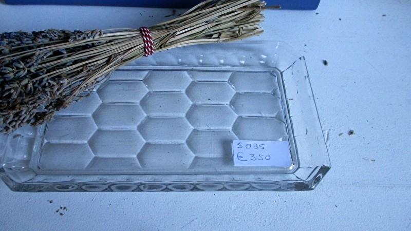 S035 Glazen serveer/cake plateau