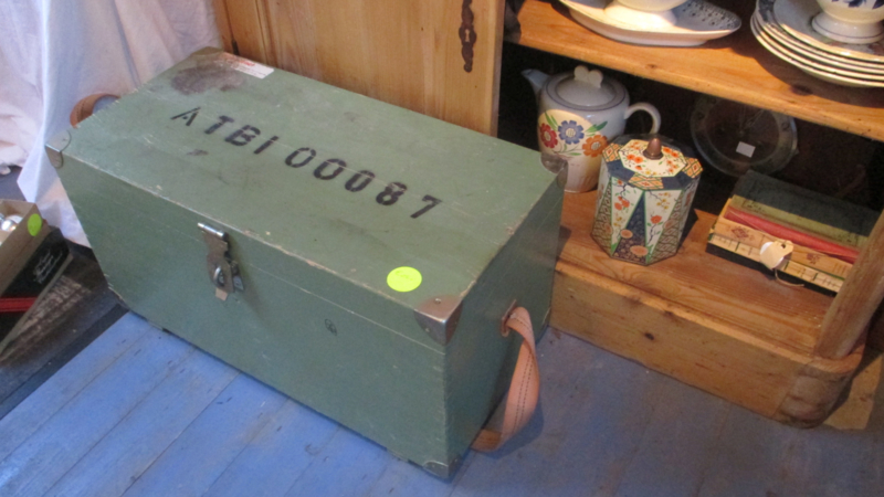 Oude gereedschapskist/koffer