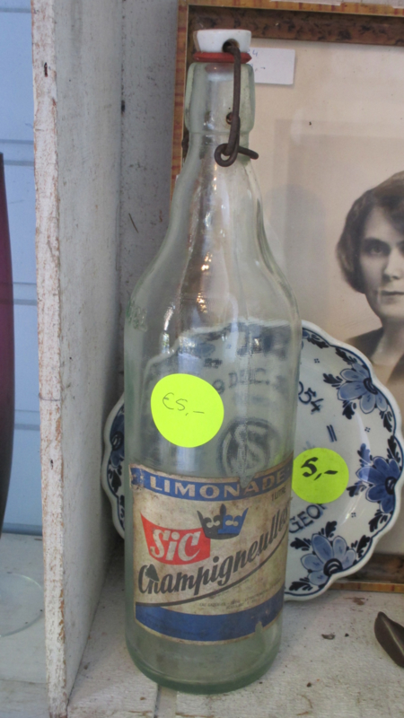 Oude Franse limonadefles