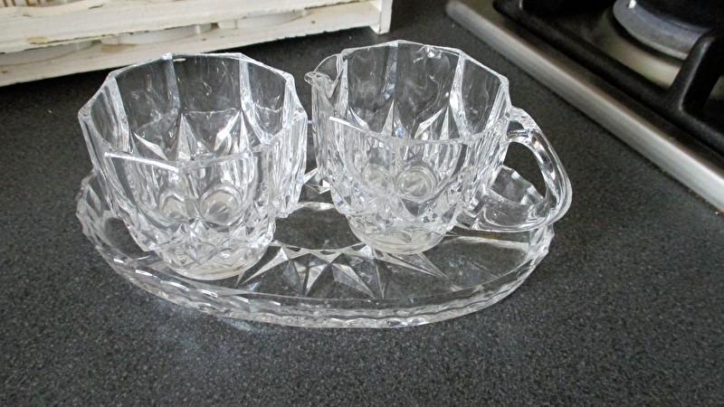 K089 (kristal) glazen roomstelletje