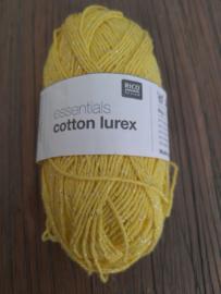 Rico Design Essentials Cotton Lurex Geel/Glitter