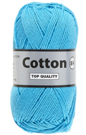 Lammy Yarns Cotton 8/4 Aquablauw