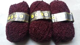 GOGO Bouclette Bordeaux Rood