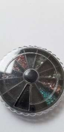 1 wiel met strass steentjes