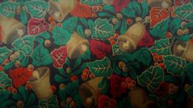 Coupon Retro Kerstklokken 73 x 14 cm