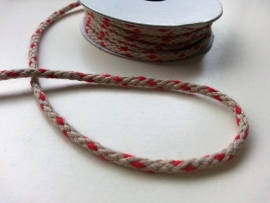 DECO RIBBON KOORD ROOD