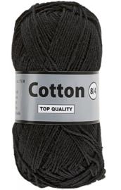 Lammy Yarns Cotton 8/4 Zwart