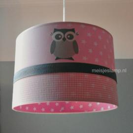 Lamp babykamer roze uiltjes en sterren