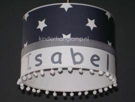 lamp babykamer Isabel grijze sterren en witte bolletjes