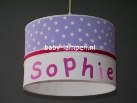 Meisjeslamp babykamer Sophie lila sterren