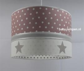 Lamp babykamer oud roze witte sterren