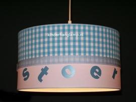 lamp babykamer stoer blauw ruitje