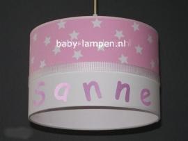 lamp babykamer Sanne roze sterren