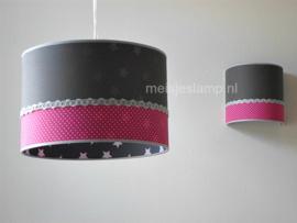 Wandlamp in dezelfde stoffen als hanglamp