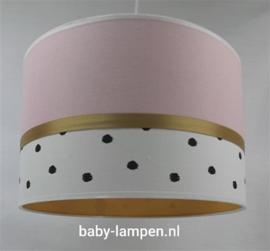 babylamp roze zwarte stip okergeel