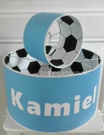 Voetballamp Kamiel  zwart wit blauw