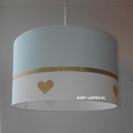 Lamp babykamer mint groen gouden hartjes