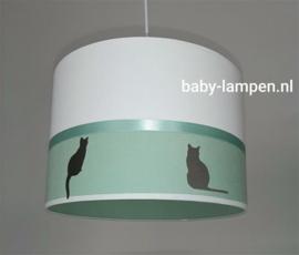 Hanglamp babykamer mintgroen en poezen