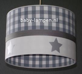 lamp babykamer grijze ruit enzilveren sterren