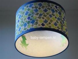 Babylamp klavertjes met kikkers aan de binnenkant