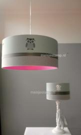 Lampenkapje in dezelfde stoffen als de hanglamp