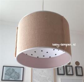 Hanglamp babykamer oud roze en jutte