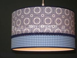 lamp babykamer blauw boerenbond en blauw ruitje