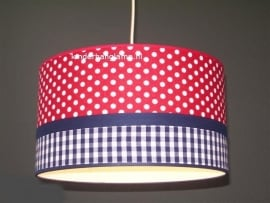 Babylamp rode stip en blauwe ruit