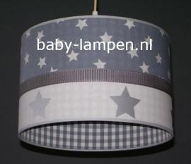 Babylamp grijze sterren en zilveren sterren